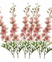 6x delphinium kunst tak 70 cm roze