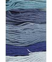6x hobby borduurkatoen blauwtinten 1mm