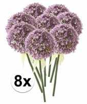 8 x kunstbloemen steelbloem lila sierui 70 cm