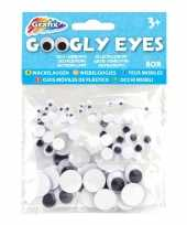 80x wiebelende ogen stickertjes 5 8 15 mm