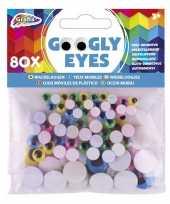80x wiebelende ogen stickertjes gekleurd 5 8 15 mm