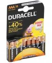8x duracell batterijtjes aaa batterijen 1 5 volt