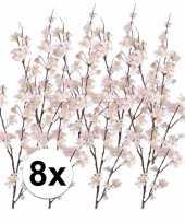 8x roze appelbloesem takken 84 cm