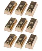9 stuks magneetjes goudstaaf 6 cm