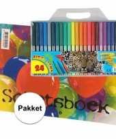 A4 tekenboek inclusief 24 viltstiften