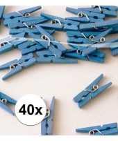 Blauwe mini knijpertjes 40x