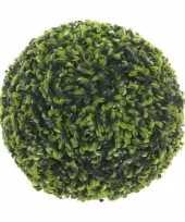 Buxus bol theeblad groen d27 cm kunstplant