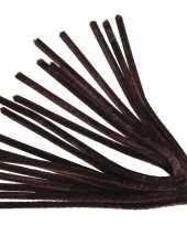 Chenilledraad bruin 50 cm 10 st
