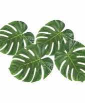 Decoratie palmbladeren 4 stuks