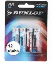 Dunlop batterijen r6 aa 12 stuks