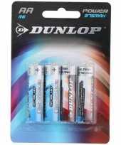 Dunlop batterijen r6 aa 4 stuks