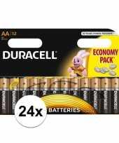 Duracell aa batterijen 24 stuks