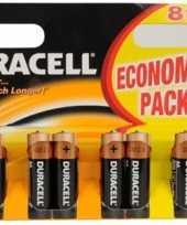 Duracell batterijen aa 8 pack