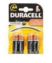 Duracell batterijen r6 aa 4 stuks