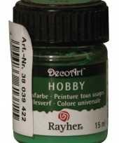 Flesje acrylverf groen 15 ml