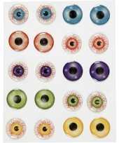 Gekleurde 3d ogen oogjes stickervel