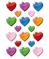 Gekleurde hart figuren stickervellen met 162 stickers