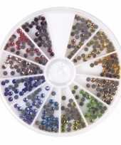 Gekleurde hotfix strass steentjes 360 stuks