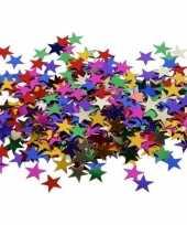 Gekleurde sterren pailletten 10 gram