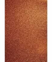 Glitterend oranje hobby papier
