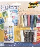Glitterpoeder gekleurd 8 gram met lijm