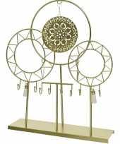 Gouden dromenvanger sieraden opbergrek 37 cm bohemian woonstijl