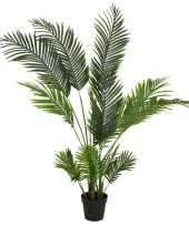 Groene areca goudpalm palmen kunstplanten 150 cm met zwarte pot