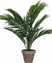 Groene areca palm kunstplant in pot 40 cm woonaccessoires woondecoraties