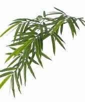 Groene bamboe kunstplant hangende tak 82 cm uv bestendig