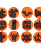 Halloween thema stempels 12 stuks