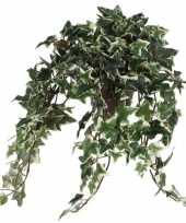 Hedera klimop kunstplant groen in grijze sierpot l45 x b25 x h25 cm