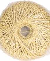 Hobby diy gouden glitter touwtje 20 meter
