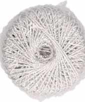 Hobby diy zilveren glitter touwtje 20 meter
