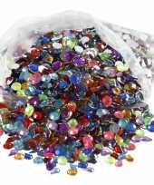 Hobby materiaal glitter steentjes 3000 stuks