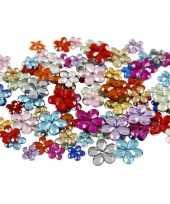 Hobby materiaal glitter steentjes bloem