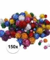 Hobby pompons 15 40 mm glitterkleuren 10107819