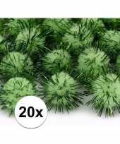 Hobby pompons 20 mm appel groen