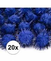 Hobby pompons 20 mm kobalt blauw