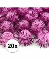 Hobby pompons 20 mm roze