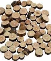 Houten boomschijfjes klein