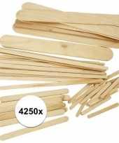 Houten knutselstokjes 4250 stuks