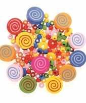 Houten kralen set cirkel kralenmix