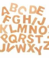 Houten letters 26 stuks 2 5 cm