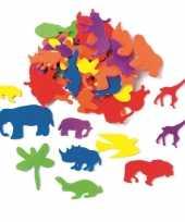 Knutsel foam 50 stuks gekleurde dieren