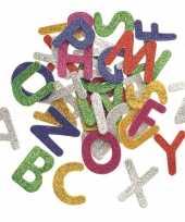 Knutsel foam 52 stuks gekleurde glitter letters
