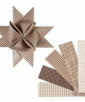 Knutselmateriaal papierstroken bruin beige 40 stuks