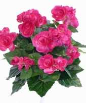 Kunstplant begonia roze 30 cm
