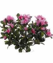 Kunstplant roze azalea 20 cm