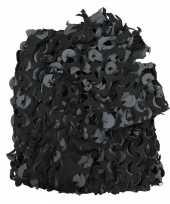 Leger decoratienet zwart grijs 3 x 2 4 meter