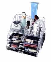 Make up organizer opberger houder met ladekast 24 cm